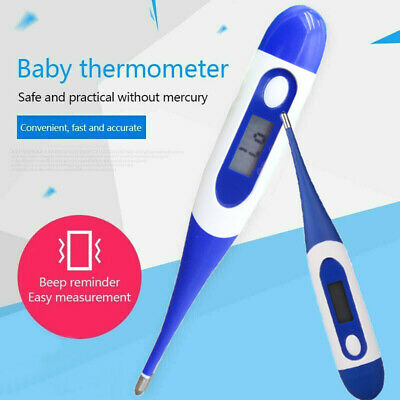 Soft Head Electronic LCD Oral Thermometer Digital Body Medical Home Measuring SF