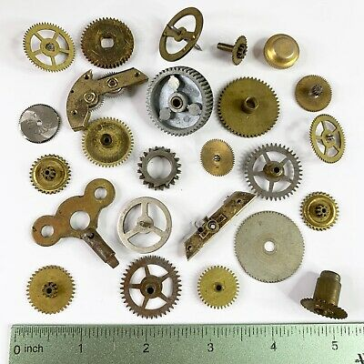25 Large Watch Gears Wheels Part Steampunk Alter Art Watchmaker Lot Clock Pocket