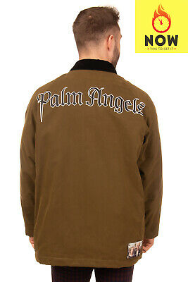 """RRP €1070 PALM ANGELS Jacket Size M Wool Lined Printed """"American Ghothic"""" Patch"""
