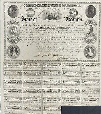 $1000 State of Georgia Coupon Bond – Criswell 61C