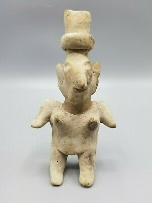 Ancient Pre-Columbian Jalisco Pottery Female Figure Circa 100 Bc - 250 Ad