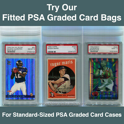 Fitted PSA Graded Card Bags Sleeves (15 Individual Bags)
