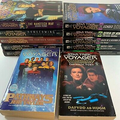 Lot of 12 Star Trek Voyager Paperback Books Pocket
