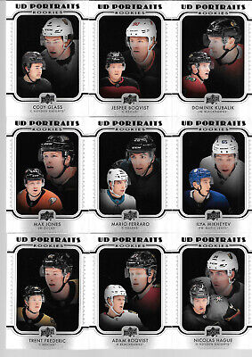 2019 19-20 Upper Deck Series 2 Ud Portraits Rookie Lot Of 18 Cards