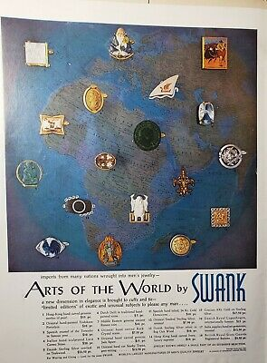 Lot 3 Vintage Swank Jewelry Print Ads Sterling Silver Birthstone
