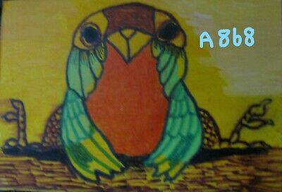 "A868 NEW-  ORIGINAL ACRYLIC ACEO PAINTING BY LJH ""TWEETY BIRD""  One-Of-A-Kind"