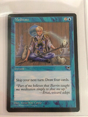 Meditate Blue Tempest Mtg Magic Rare 1x