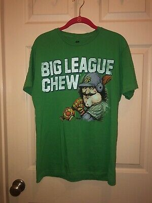 BIG LEAGUE CHEW COVER T-SHIRT HEATHER RED MENS RETRO DISTRESSED TEE