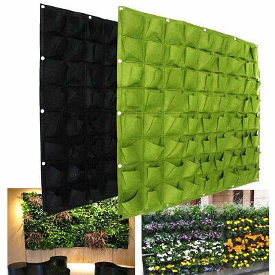 72 Pocket Hanging Garden Vertical Greening Outdoor Indoor Plant Planting Bag