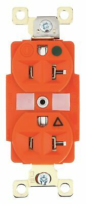 Bryant 20,  Heavy Use Hospital Grade,  Isolated Ground Receptacle,  Orange,  No