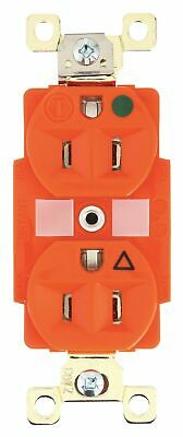 Bryant 15,  Heavy Use Hospital Grade,  Isolated Ground Receptacle,  Orange,  No