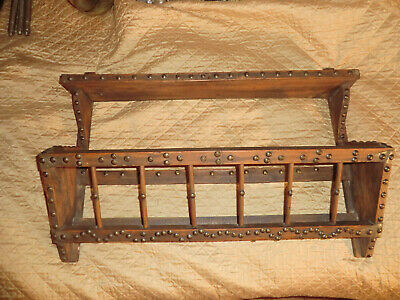 Antique/Vintage Arts & Crafts Wall Shelf/Magazine Rack