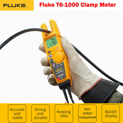 Fluke T6-1000 Electrical Non-contact Continuity Clamp Tester Meter Field Sense