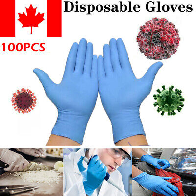 100pcs/set Medical Examination Disposable Gloves Power Latex Free Rubber Gloves