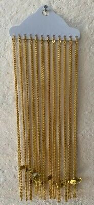 """Set Of Twelve 10"""" Gold Plated Chains (D5)"""