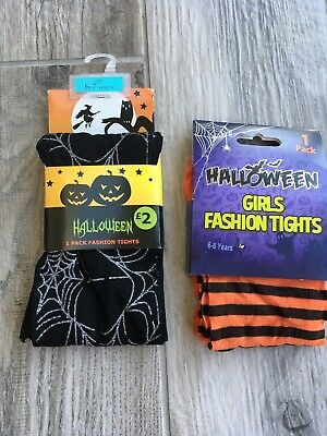 Girls New Halloween Tights Age 6-7 7-8 Years New