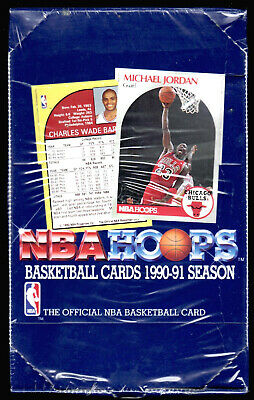 1990-91 NBA Hoops Basketball Box 36 Packs 15 Cards/Pack Unopened Factory Sealed