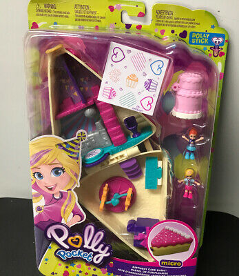 Polly Pocket Birthday Cake Bash  2 Dolls and Accessories New