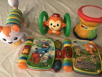 infant toddler toy lot of 5 daycare preschool books educational toys