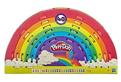 Play-Doh Ultimate Rainbow 40 Can Tub Pack of Non-Toxic 7 Colours With Free Tools