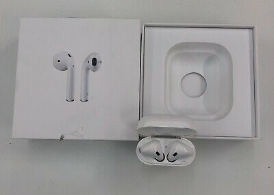 Genuine Apple Airpods White 2nd Generation MV7N2AM/A w/ Wired Charging Case/good