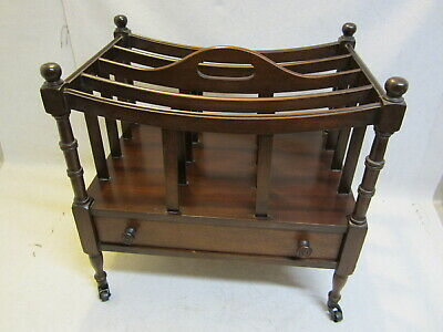 Antique Old Magazine Rack With drawer