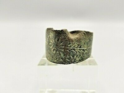 Ancient Viking Bronze Cuff Bracelet Circa 1000Ce From A Madison Avenue Gallery