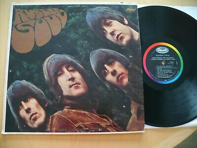 The Beatles- Rubber Soul 1965 Orig Capitol T2442 Mono Classic Rock Beat Psych