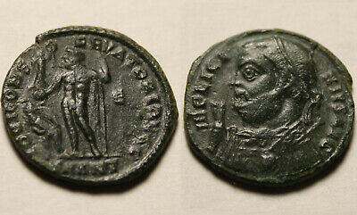 Licinius mappa scepter 317 AD Jupiter victory captive genuine Ancient Roman coin