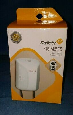 Safety 1st Outlet Cover with cord shortener #48308 Store up to 4 feet of cord