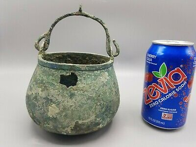 Ancient Near East Bronze Cauldron Vessel Witches Brew Roman Greek Celtic Viking