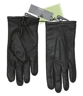 Fownes Genuine Leather Black Gloves Women's Size S 11309