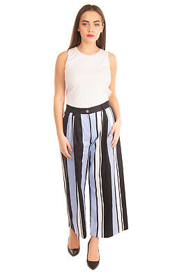 RRP €445 DOLCE & GABBANA Pleated Trousers Size IT 42 S Stretch Cropped Wide Leg