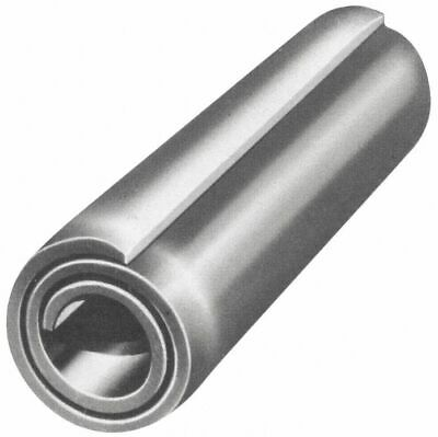 "Fabory Steel Coiled Spring Pin, 2"" L, Plain Fastener Finish   U39140.018.0200"