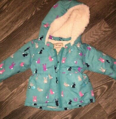 Baby Girls NEXT. Age 3-6 Months Hooded Green Warm Jacket
