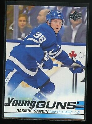 2019-20 UD #222 Rasmus Sandin rookie gem mint young guns