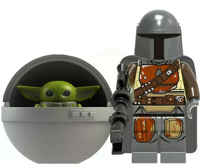 Baby Yoda & The Mandalorian Mini Figure Star Wars Fits Lego The Baby Toy In Pod