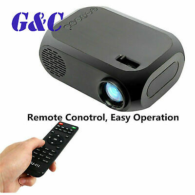 LED Projector Mini Portable Handheld Projector HD 1080P Home Theater HDMI/USB