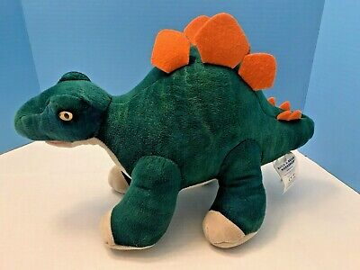 Build A Bear Stuffed Green Stegosaurus Dinosaur BABW Gently Loved Preowned 17""