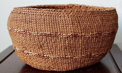 Antique Native American Basket West Coast Perfect 10 Inch Wide