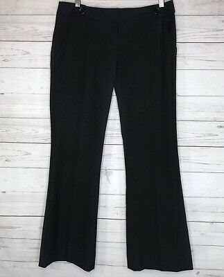 The Limited Womens Dress Pants Drew Fit Pockets Pleated Bootcut Black Size 2S
