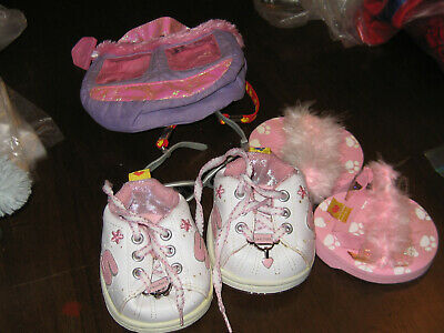 Build-A-Bear Bag & Shoes & Sunglasses Accessories Set  Great Used
