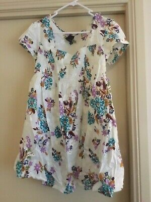 Ladies maternity white & floral shirt size 12 from maternity expression