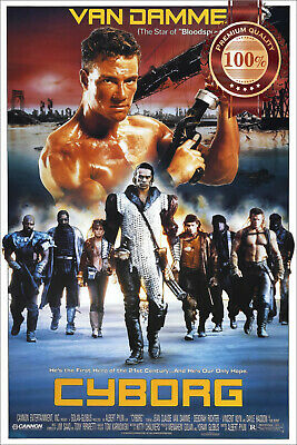 New Cyborg Van Damme 1989 Original Official Cinema Movie Print Premium Poster