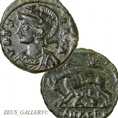 SHE WOLF suckling Twins CONSTANTINE The GREAT Rare Ancient Roman Coin Alexandria