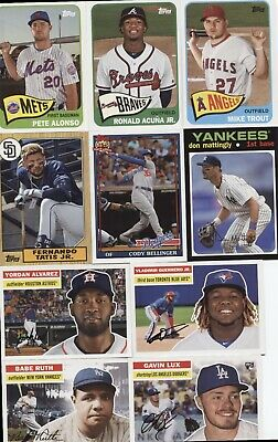 2020 Topps Series 1 TOPPS CHOICE Complete 25 Card Set - ALVAREZ,LUX,TROUT,ALONSO