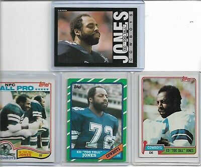 ED TOO TALL JONES 4 different TOPPS card lot DALLAS COWBOYS free ship