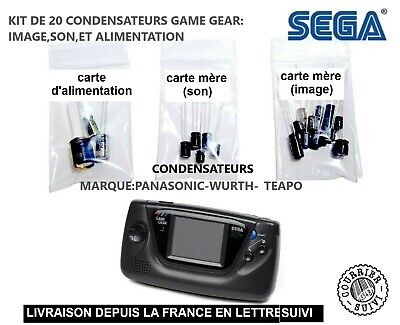 SEGA GAME GEAR CAPKIT de 20 condensateurs son,image,alimentation