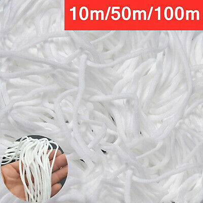 10-100m Length 3mm Round Elastic Band Cord Ear Hanging Sewing Craft DIY Material