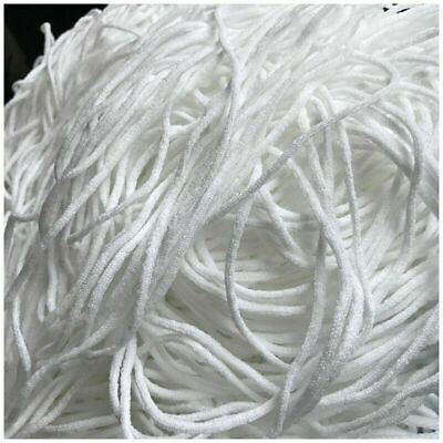 3mm Round Elastic Band Cord Ear Hanging Sewing Craft DIY Material 10/100m Length